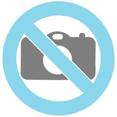 Miniurna cerámica concha negra con corazón plata